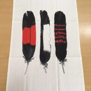 Black Cockatoo Feathers Tea Towel