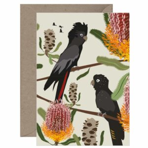 Black Cockatoo Card
