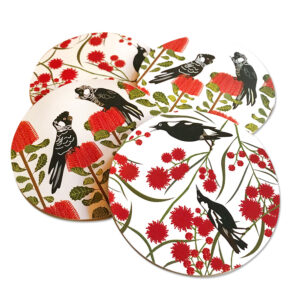 Black Cockatoo Coasters