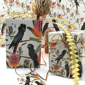 Black cockatoo gift wrap