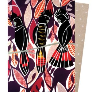 Black cockatoo greeting card
