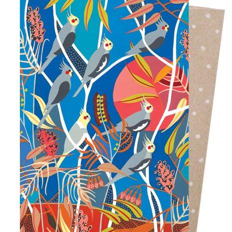 Greeting Card - Wild Cockatiels