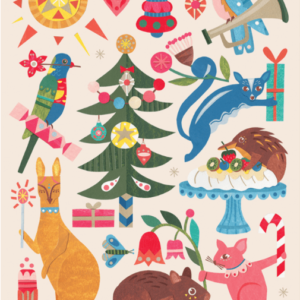 Folded Wrapping Paper - Festive Fauna