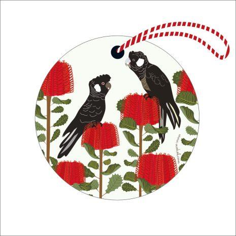 Christmas Decoration Black Cockatoo
