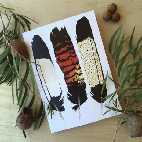 A5 Blank Journal Black Cockatoo Feathers
