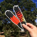 Red-Tailed Black Cockatoo(Female) Feather Vinyl Sticker 2