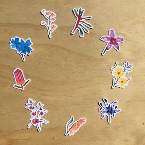 Perth Banksia stickers 2