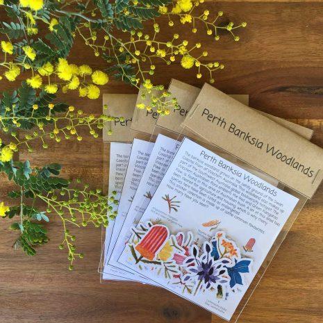 Perth Banksia stickers-min