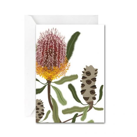 Flora Banksia Mini Card